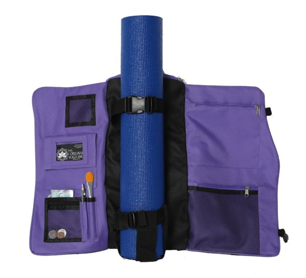The Yoga Sak Lite - Purple Heart Open View
